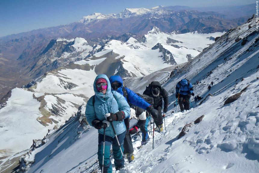 Ascension de l'Aconcagua (6962m) par la voie des faux polonais