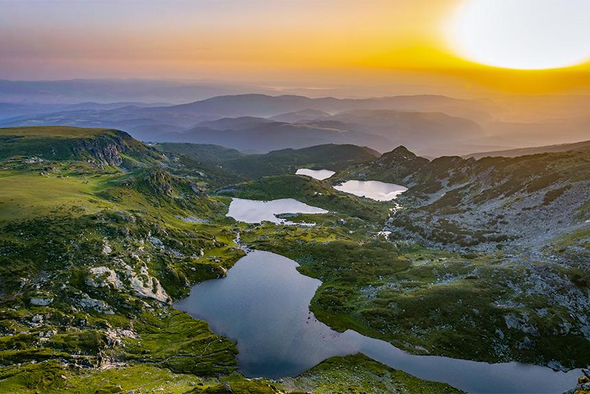 les hautes terres des Balkans