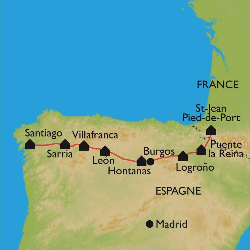 Compostelle v lo saint saint jean pied de port santiago - Distance st jean pied de port st jacques de compostelle ...