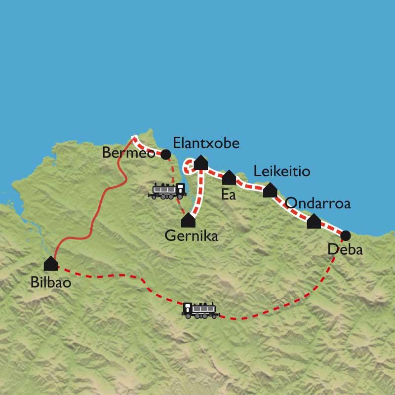 Randonnée Pays Basque - Guernica, Bilbao en liberté