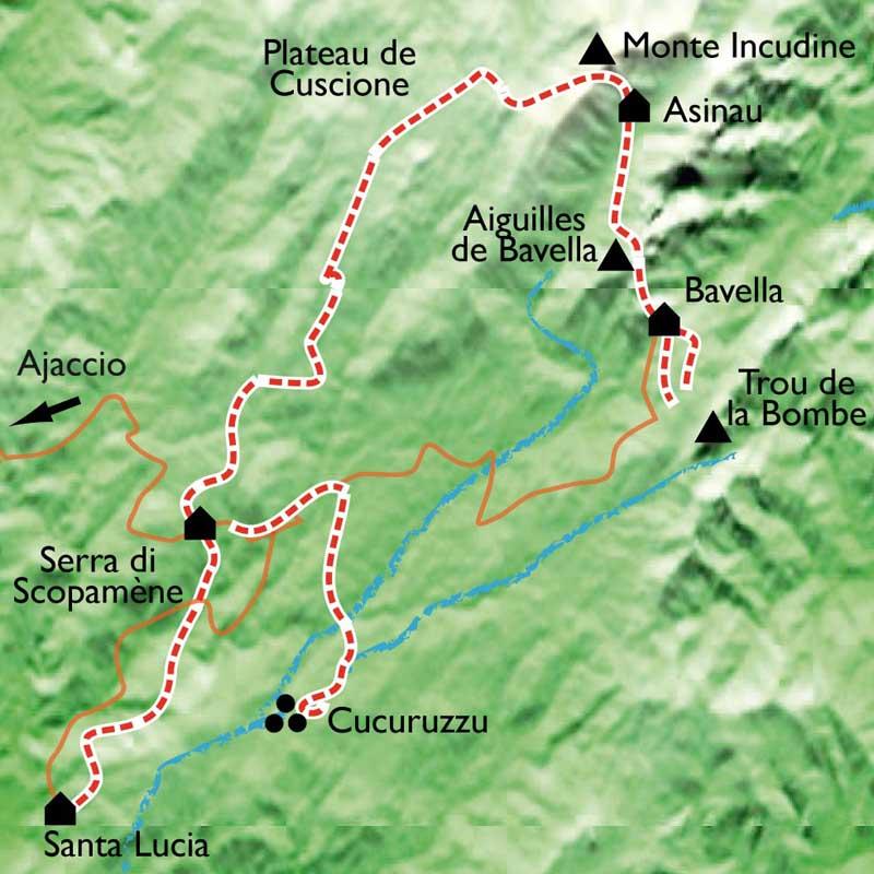 Randonn E Bavella Alta Rocca