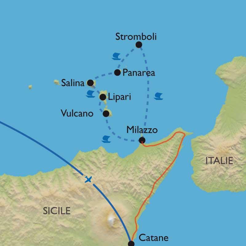 Randonn 233 E Italie Iles Eoliennes En Caique Stromboli