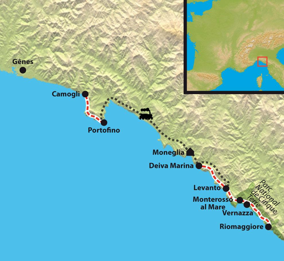 Infos sur carte italie cinque terre arts et voyages for Hotels 5 terres italie