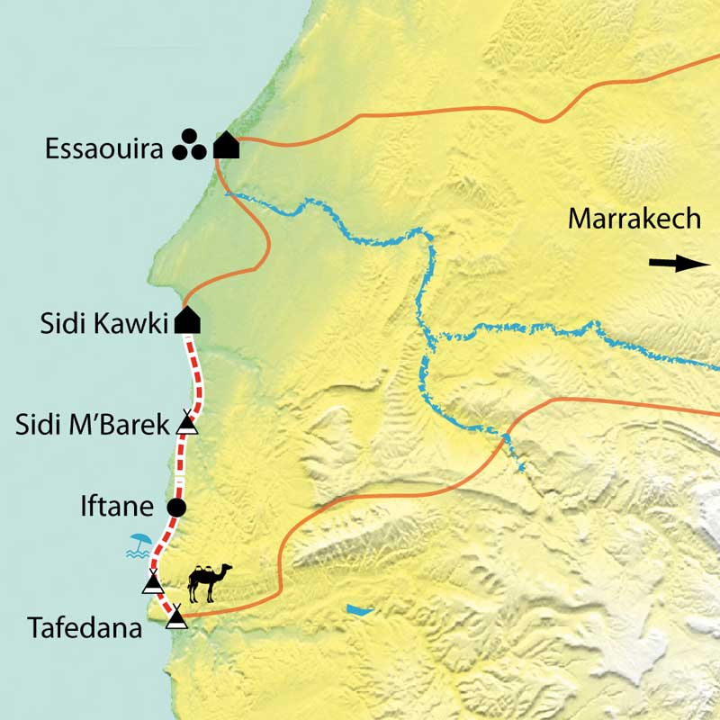 Randonn 233 E Essaouira En Famille Maroc