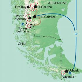 Carte Patagonie, aux confins de la terre