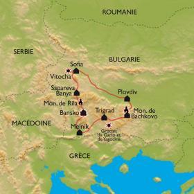Carte Montagnes à la sauce bulgare