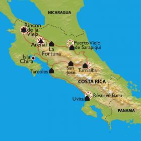Carte Une nature volcanique