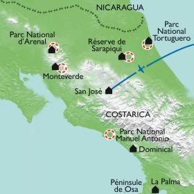 Carte L'Amérique centrale en famille