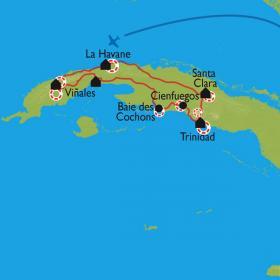 Carte La perle des Caraïbes