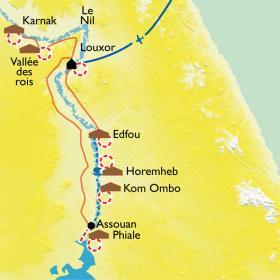 Carte Sur les pas de Ramsès