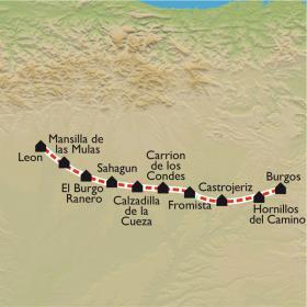 Carte De Burgos à León, à petits pas