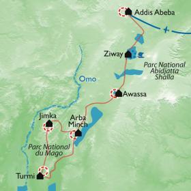 Carte Ethnies du Rift et de l'Omo
