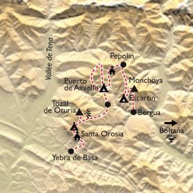 Carte Immersion dans les villages oubliés d'Aragon