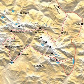 Carte Le tour de l'Aneto, seigneur des Pyrénées