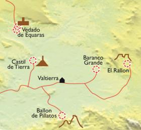 Carte Bardenas Reales, le charme du désert en chambres troglodytes