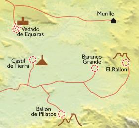 Carte Bardenas Reales, le charme du désert dans les Pyrénées en hôtel charmant
