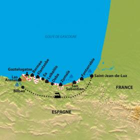 Carte Rando littorale au rythme des voiles