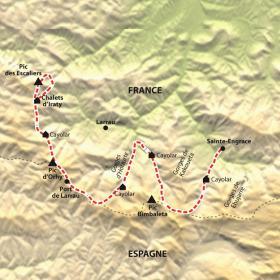 Carte Sentiers de Soule, de cayolars en cayolars