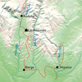 Carte Escapade canyoning, version aventure
