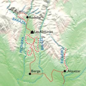 Carte Les canyons de la Sierra de Guara, Programme Découverte