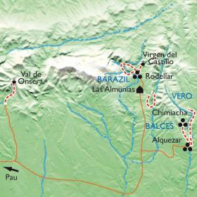 Carte Guara, randonnée et canyoning
