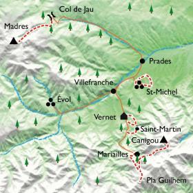 Carte Pablo Casals à Prades, montagne et musique classique