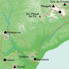 Carte Trésors de Catalogne : de la Costa Brava à Barcelone par le massif de Montserrat