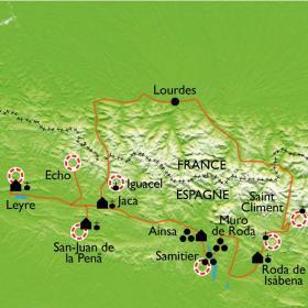 Carte L'Aragon Roman, sur les chemins de la Reconquête