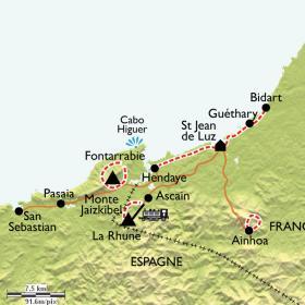 Carte St-Jean-de-Luz - Côte Basque, l'escale détente et mise en jambe