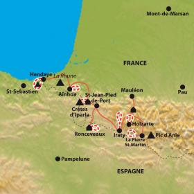 Carte De la forêt d'Iraty aux rivages de l'Atlantique