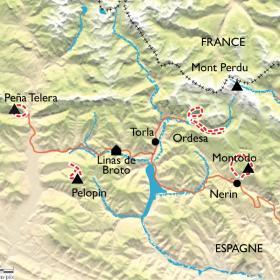 Carte Randonnée Yoga en Aragon, parc National d'Ordesa