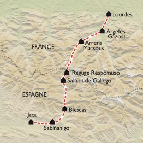 Carte De Lourdes à Jaca