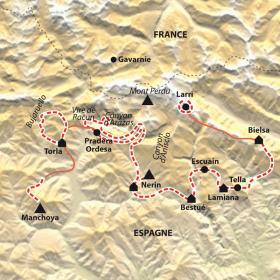 Carte Balcons du Mont Perdu et vires d'Ordesa