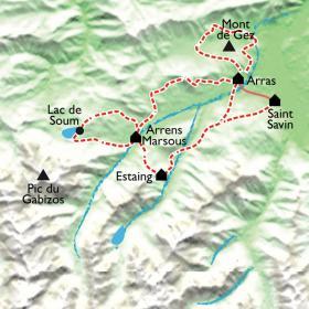 Carte Belvédères du Val d'Azun, rando en douceur