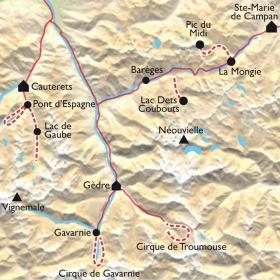 Carte Randonnée dans les Grands Sites des Pyrénées