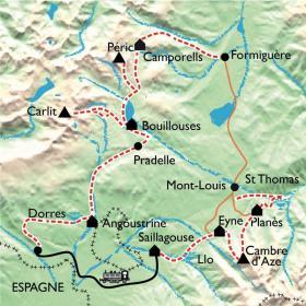 Carte Soleil de Cerdagne-Capcir, pays des lacs et eaux chaudes