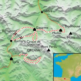 Carte Gavarnie-Ordesa, les grands canyons en liberté