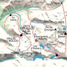 Carte Néouvielle de lacs en lacs