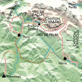 Carte Parc National d'Ordesa, au pays des grands canyons