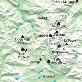 Carte Le tour du Balaïtous, par le chemin des fiancés