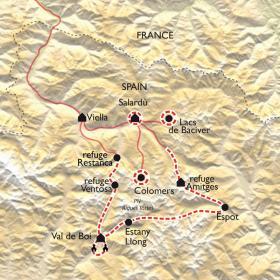 Carte Tour des Encantats, entre nature et patrimoine