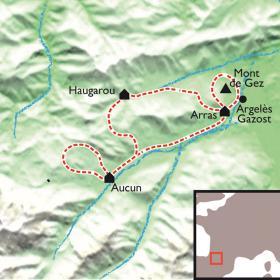 Carte Le Val d'Azun en liberté avec un âne