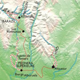 Carte Plouf-plouf à Alquezar, canyon famille au pays des oliviers
