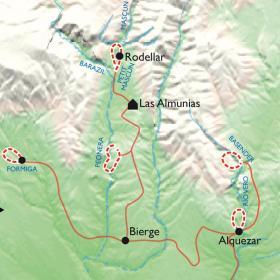 Carte Canyon et via ferrata en Guara