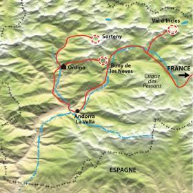 Carte Raquettes et réveillon en Andorre... en tout confort !