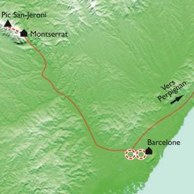 Carte Réveillon Montserrat à Barcelone