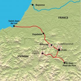 Carte Réveillon en terre Basque