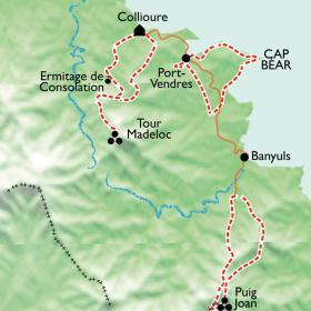 Carte Réveillon gourmand Collioure-Banyuls