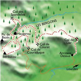 Carte Réveillon au cœur de la forêt enneigée dans le Val d'Azun