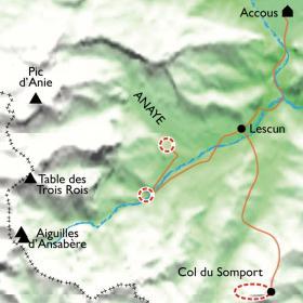 Carte Réveillon dans le cirque Lescun, perle des Pyrénées